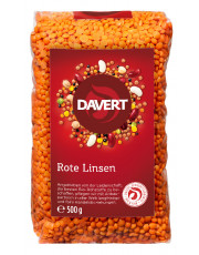 Davert, Rote Linsen, 500g Packung