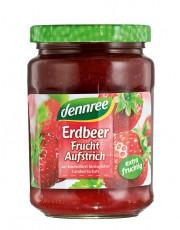 dennree, Fruchtaufstrich Erdbeere, 340g Glas