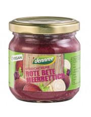dennree, Streichcreme Rote Bete Meerrettich, 180g Glas