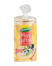 dennree, Maiswaffeln ohne Salz, glutenfrei, 110g Packung