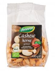 dennree, Cashewkerne, geröstet und scharf gewürzt, Sri Lanka, 100g Packung