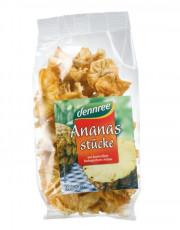dennree, Ananas Stücke, 100g Beutel