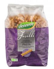 dennree, Vollkorn-Hartweizengrieß, Fusilli/Spirelli, 1kg Packung