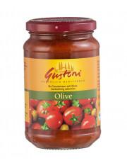 Gustoni, Olive, Tomatensauce mit Oliven, 350g Glas