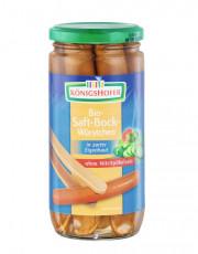Königshofer, Saftbockwürstchen in zarter Eigenhaut, 6 Stück, 400g Glas