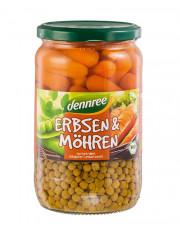 dennree, Erbsen & Möhren, 660g Glas