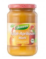 dennree, Apfel-Aprikosenmark, 360g Glas