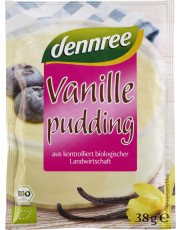 dennree, Vanillepudding, 3x 38g Beutel