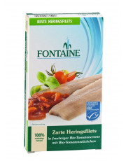 Fontaine, Zarte Heringsfilets in fruchtiger Tomatencreme, 200g Dose (110g)