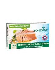 Fontaine, Thunfisch-Filet Echter Bonito in Bio-Sonnenblumenöl, 120g Dose (90g)