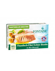 Fontaine, Thunfisch-Filet Echter Bonito in Bio-Olivenöl, 120g Dose (90g)