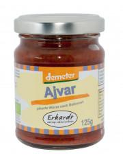 Erhardt, Ajvar, pikante Paprikabereitung aus dem Balkan, demeter, 125ml Glas