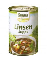 Ökoland, Linsensuppe mit Würstchenscheiben, hefefrei, 400ml Dose