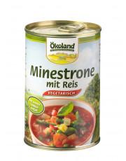 Ökoland, Minestrone mit Reis, hefefrei, vegetarisch, 400g Dose