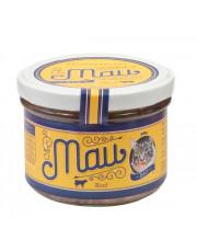 Wuff & Mau, Mau Premium Katzennahrung Rind, 200g Glas