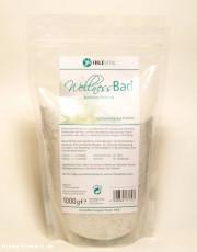 Ihlevital Wellness Bad, basisches Badesalz für jeden Hauttyp, 1kg Nachfüllpackung