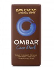 Ombar, Kokosmilch Dunkel Roh Schokolade, 35g Tafel
