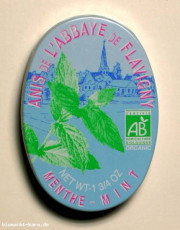 Anis de l'Abbaye de Flavigny, Pfefferminze Bonbon, 50 g Dose