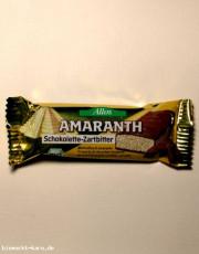 Allos, Amaranth - Schokolette-Zartbitterriegel, 25 g Stück