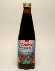 Voelkel, Preiselbeer pur, 100% Muttersaft, 0,33 l incl. 0,15 EUR Pfand, Flasche