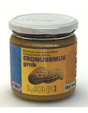Monki, Erdnussmus grob, 330g Glas