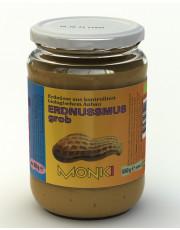 Monki, Erdnussmus grob, 650g Glas