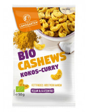 Landgarten, Bio-Cashews Kokos-Curry, 50g Beutel