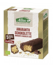 Allos, Amaranth - Schokolette Zartbitter, 5 Riegel, 140g Packung