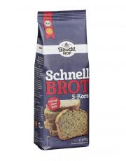 Bauckhof, Schnellbrot 5-Korn, glutenfrei, ohne Hefe, 475g Packung