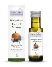 Bio Planéte, Omega-Green, Leinöl Mixtur, 0,1l Flasche