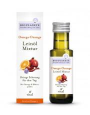 Bio Planéte, Omega-Orange, Leinöl Mixtur, 0,1l Flasche