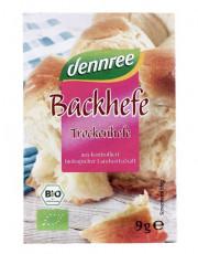 dennree, Backhefe, 9g Packung