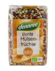 dennree, Bunte Hülsenfrüchte, 500g Packung