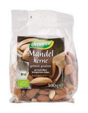 dennree, Mandeln, geröstet & gesalzen, 100g Packung