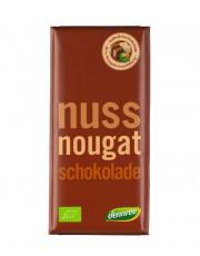 dennree, Vollmilchschokolade mit Nougatcremefüllung, 100g Trafel