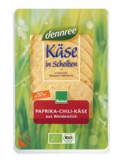 dennree, Paprika-Chili-Käse in Scheiben, lactosefrei, mind. 50% Fett i. Tr., 150g Packung