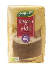 dennree, Roggenmehl Type 997, 1kg Packung