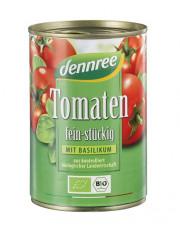 dennree, Tomaten fein stückig mit Basilikum, 400g Dose