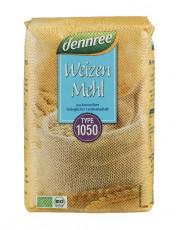 dennree, Weizenmehl Typ 1050, 1kg Packung