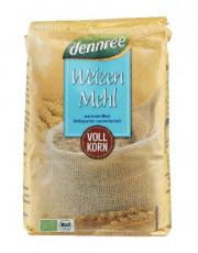 dennree, Weizenvollkornmehl, 1kg Packung