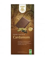 Gepa, Cardamom, feine Vollmichschokolade, 38% Kakao, 100g Tafel