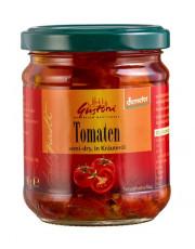 Gustoni, halbgetrocknete Tomaten in Kräuteröl, 190gr Glas