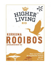 Higher Living, Rooibos Kurkuma, 40g, 20 Btl. Packung