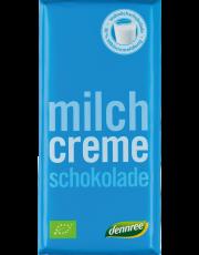 dennree, Vollmilchschokolade mit Milchcremefüllung, 100g Tafel