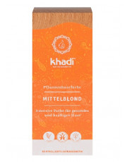 Khadi, Pflanzenhaarfarbe Mittelblond, 100g Packung