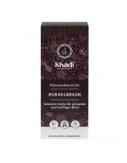 Khadi, Pflanzenhaarfarbe, dunkelbraun, 100g Packung