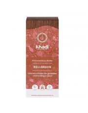 Khadi, Pflanzenhaarfarbe hellbraun, 100g Packung