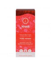 Khadi, Pflanzenhaarfarbe, reines Henna rot, 100g Packung