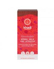 khadi,Pflanzenhaarfarbe Henna, Amla u. Jatropha 100g Packung