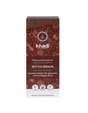 Khadi, Pflanzenhaarfarbe Mittelbraun, 100 Packung